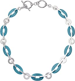 Turquoise Link Collar Necklace