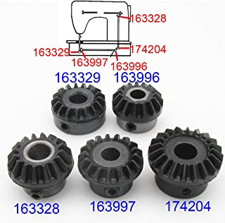CKPSMS Brand - #163328+174204+163996+163997+163329 1SET fit for Singer Touch N Sew New Gear Set 620 625 626 628 629 630 635 636 640 648