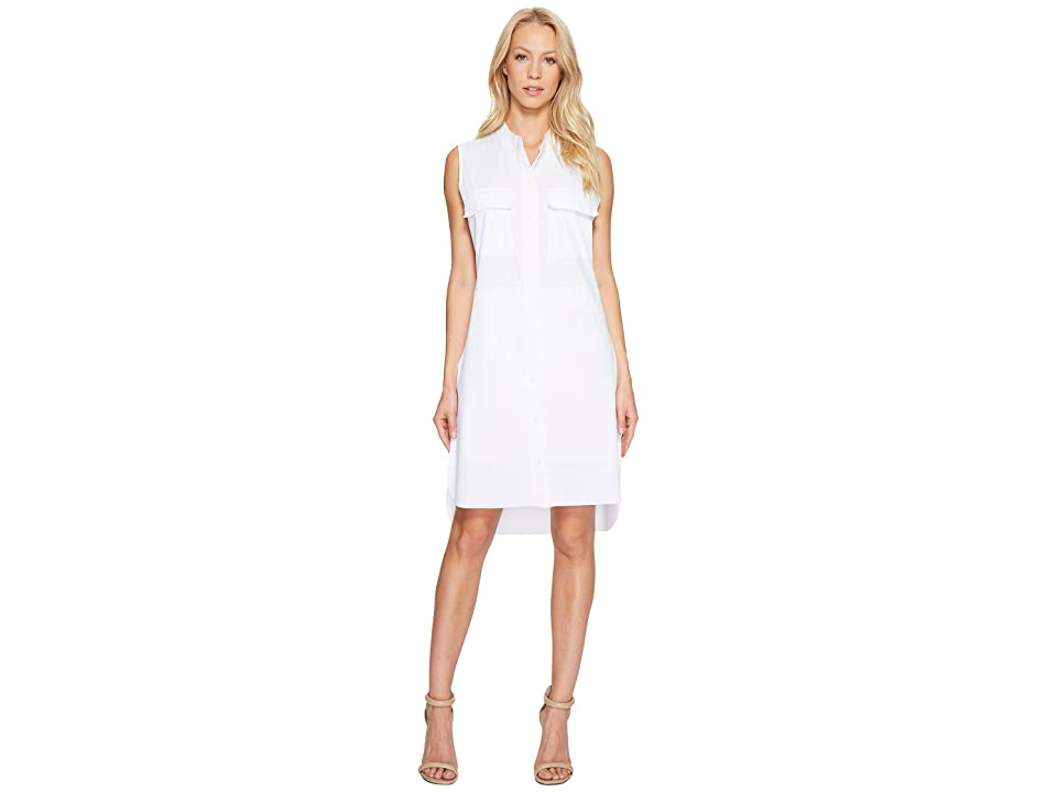 Lysse Archie Stretch Microfiber Shirtdress (White) Women