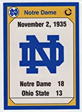 Notre Dame VS Ohio State - 1935 (Football Card) 1990 Notre Dame Collegiate Collection # 178 NM/MT