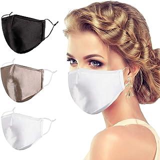 VWMYQ Black Silk Face Mask Women Men Skin Care Satin Designer Mascarillas Fabric Fashionable Adult Cute Cubre Bocas Female...
