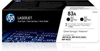 Best HP 83A CF283AD 2 Toner Cartridges Works with HP LaserJet Pro M201dw, M125nw, M127fn, M225 series Black Review