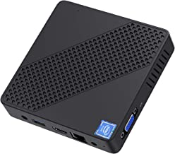 $159 » Mini PC Intel Celeron N4000(up to 2.6GHz) Windows 10, 4GB DDR4/64GB eMMC Mini Desktop Computer 4M Cache, Support HDMI2.0a& VGA, 4k@60Hz UHD, USB3.0, 2.4G+5G Dual Wi-Fi, NGFF 2242 SSD, Gigabit Ethernet