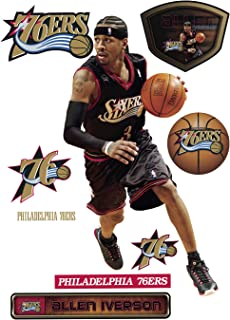 Fathead NBA Philadelphia 76ers Allen Iverson: Legend - Life-Size Officially Licensed NBA Removable Wall Decal