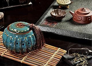 Izumin 茶道具 茶筒  飾り物 (青)