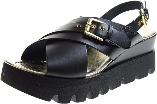 Antica Cuoieria Chaussures Femmes Sandales 20876-V-AD8 Noir