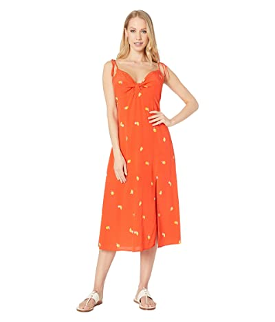 ASTR the Label Brigette Dress (Atomic Orange Print) Women