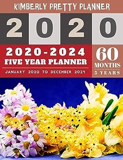 2020-2024 Five Year Planner: five year planner 2020-2024   60 Months Calendar, 5 Year Appointment Calendar, Business Planners, Agenda Schedule ... Design (5 year monthly planner 2020-2024)