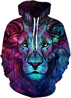 Unisex 3D Graphic Print Realistic Casual Long Sleeve Hoodie Pullover Sweatshirt