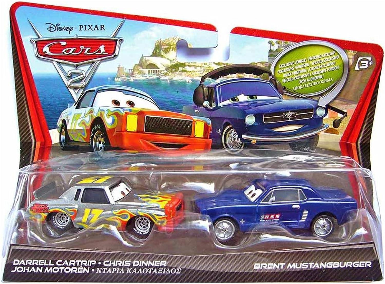 Cars 2Darrell Cartrip und Brent Mustangburger Diecast Fahrzeug 2er-Pack