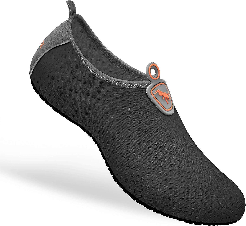 Bigant Water Shoes Womens Mens, Sports Shoes Barefoot Quick-Dry Aqua Yoga Socks Slip-on for Surf Swim Beach Pool
