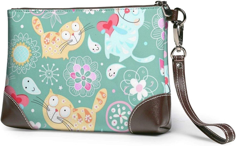 supreme Cute Cats Clutch Purses Ha Leather 5 popular Wallet Wristlet