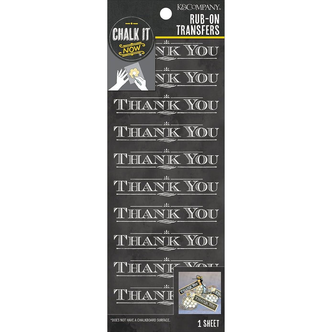 K&Company Chalk it Now Thank You Rub-Ons