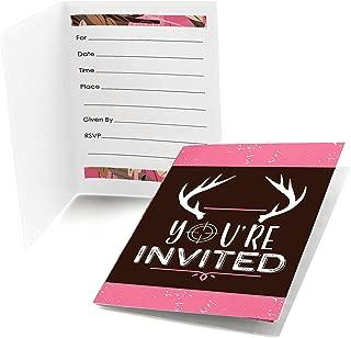 camo first birthday invitations