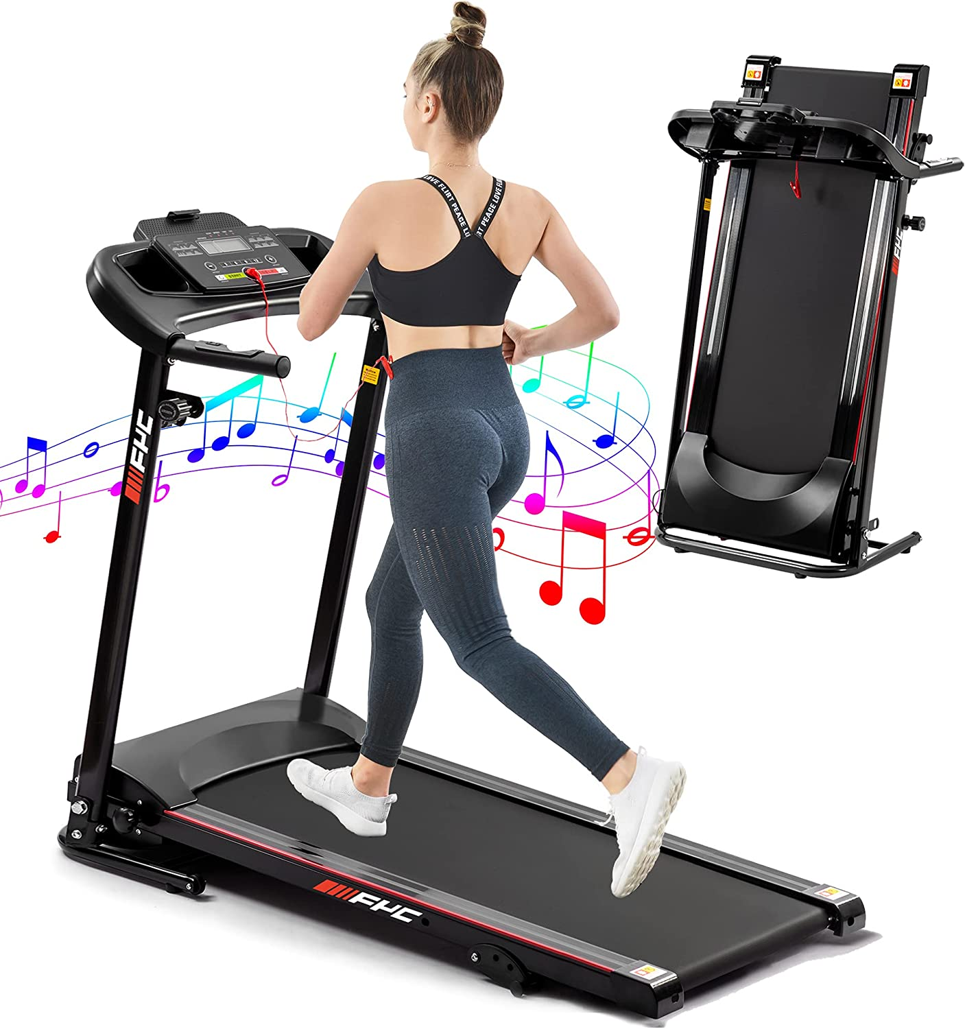 FYC Electric Folding Treadmills Cheap mail order sales Motorized Jogging Machi Running Outstanding