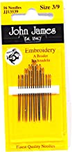 John James Embroidery Needles Size 3/9
