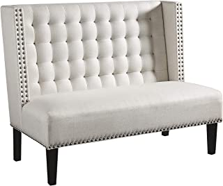 Ashley Furniture Signature Design - Beauland Accent Bench/Settee - Contemporary Chic - White