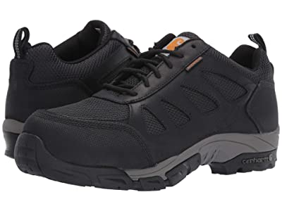 Carhartt Lightweight Low Waterproof Work Hiker Carbon Nano Toe (Black Leather) Men