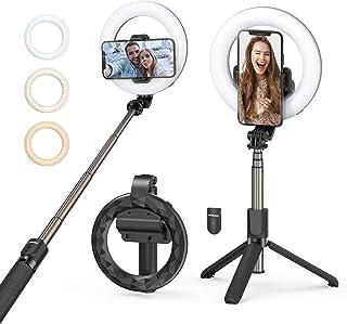 Aro de luz Mpow,Anillo de Luz Selfie con Control Remoto,3 Colores 9 Brillos Regulables Wireless Control Remoto, para Movil...