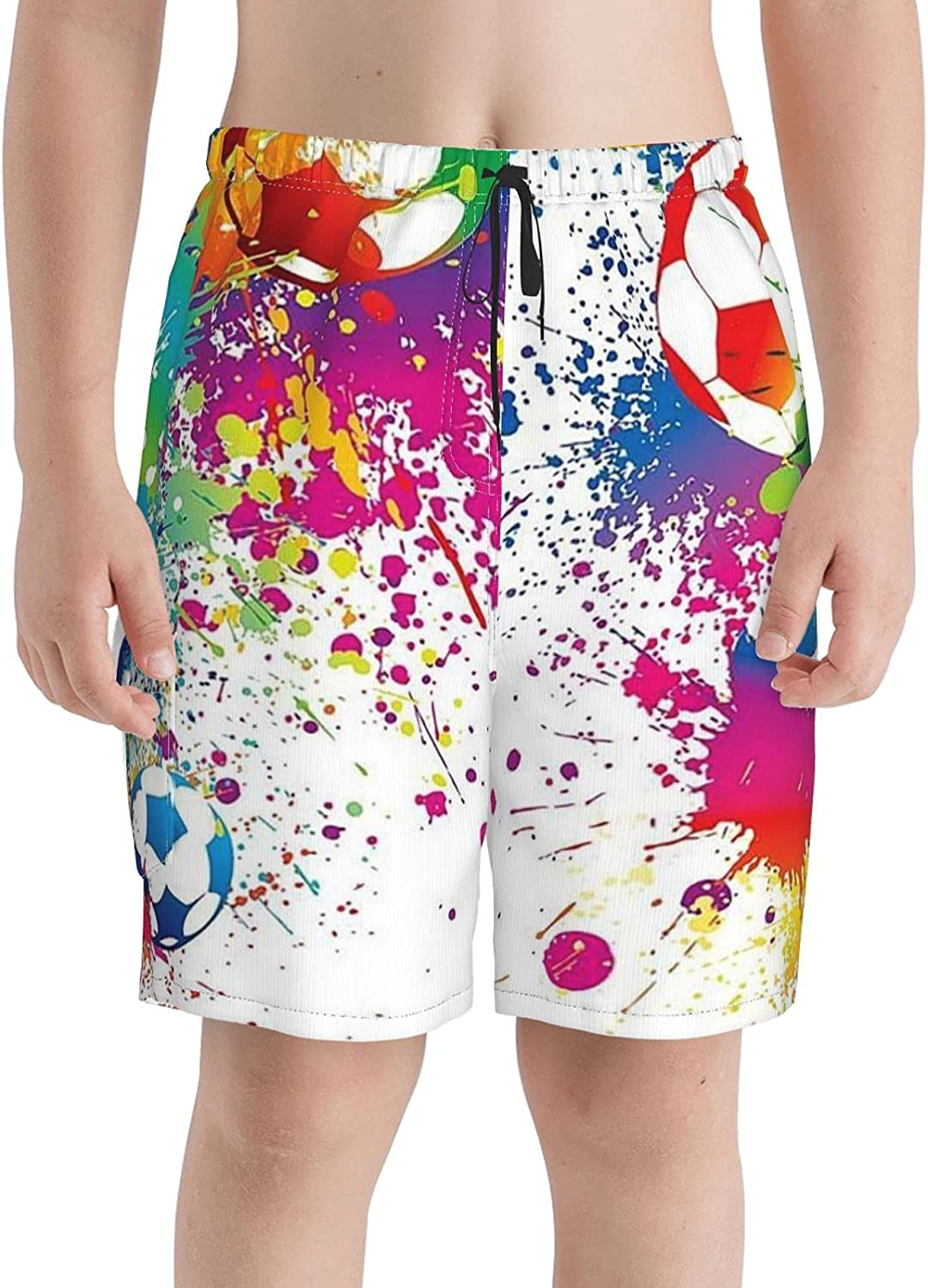 Neddelo Shipping included Soccer Player Boys New products, world's highest quality popular! Swim Trunks Beach Teens Boardshorts