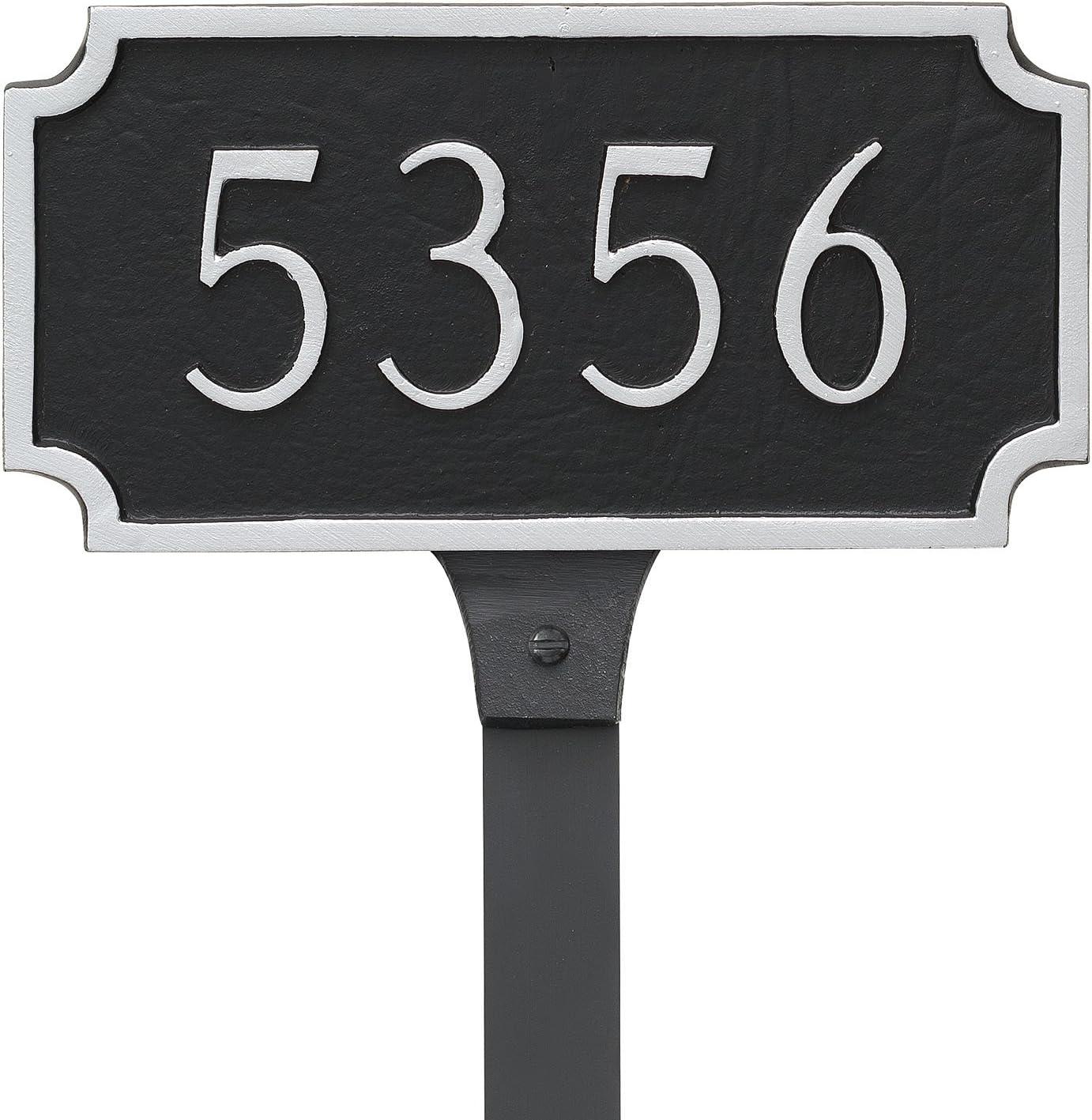 Montague Metal Princeton Petite Address St Plaque Sign with Lawn Max 52% 40% OFF Cheap Sale OFF