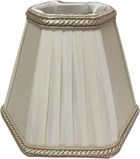 Royal Designs CS-505EG/BG Decorative Trim Hexagon Empire Chandelier Lamp Shade, Eggshell Beige