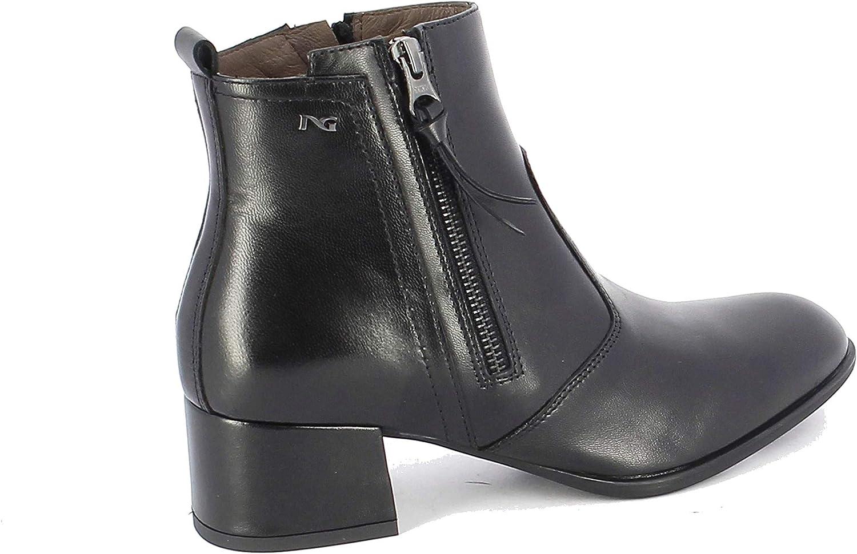 svart Giardini Woherrar A806971DE100 svart svart svart läder Ankle stövlar  officiell kvalitet