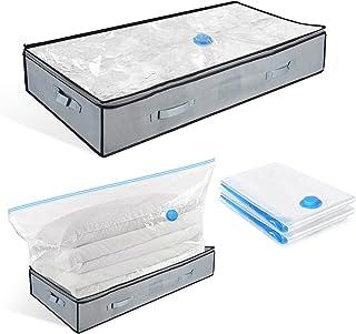 BoxLegend Sac de rangement sous vide pour vêtements et ensemble de sacs de rangement sous le lit, 2x sacs sous vide et 2x ...
