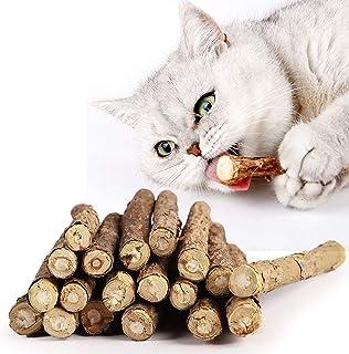 CATOM 30本猫歯ぎしり棒 猫噛みおもちゃ またたびの木 またたびトイ 噛むスティック 天然安全 興奮した猫