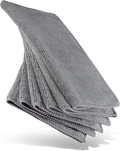 HEYNNA® Premium torchons microfibres pour nettoyage - cuisine et maison - lot de 6 - 30x30cm