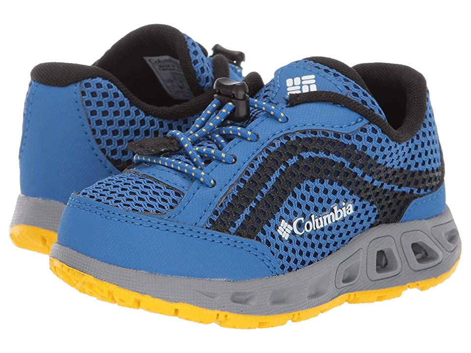 Columbia Kids Drainmakertm IV (Toddler/Little Kid/Big Kid) (Stormy Blue/Deep Yellow) Boys Shoes