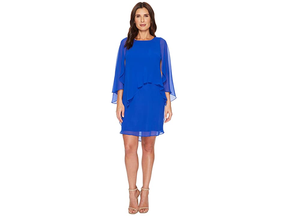 LAUREN Ralph Lauren Apollonia Georgette Dress (Deep Lapis) Women