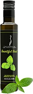 Calivirgin Basil Olive Oil - Basil Infused Extra Virgin Olive Oil - Cold Pressed Olive Oil - Basil Flavored Olive Oil - No Preservatives - Gourmet Olive Oil from Organically Grown Olives - 250ml