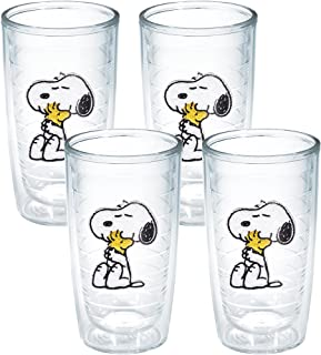 Tervis Peanuts Snoopy and Woodstock Tumbler, 16-Ounce, 2-Pack, Clear, No Lid - 1140875