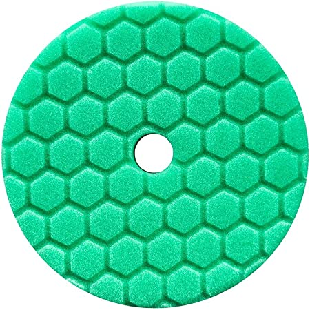 Chemical Guys BUFX113HEX5 Hex-Logic Quantum Medium-Heavy Cutting Pad, Green (5.5 Inch Pad made for 5 Inch backing plates)