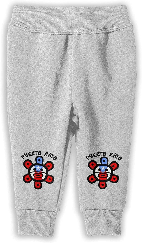 Puerto Rico Flag Sun Tribal Sol Taino Children's Sweatpants Active Simple Comfort Jogger Pants