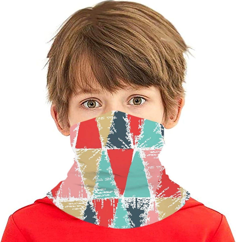 2021 rerw Popular standard Children Headwear Face Mask Triangle Tre Christmas Colorful