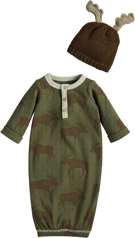 Mud Pie Baby Boys' Moose Take Me Home, Green, 0-3 Months