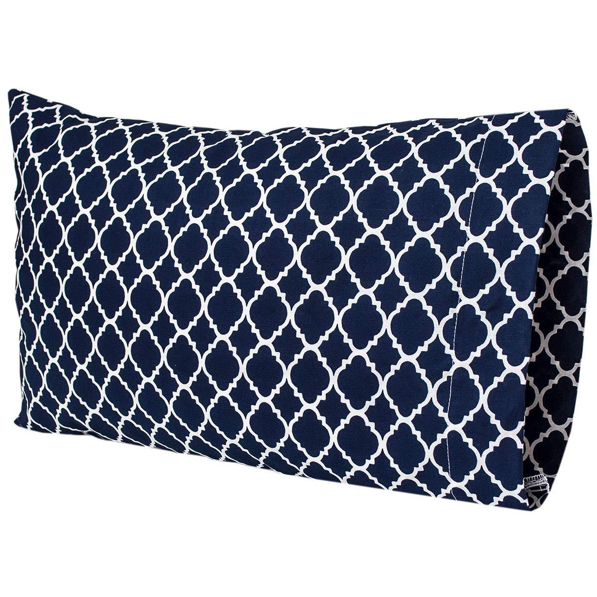 Inexpensive Navy Travel Toddler Max 87% OFF Pillowcase Quatrefoil Design Lattice 14x21