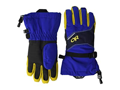 Outdoor Research Kids Adrenaline Gloves (Big Kids) (Sapphire/Ink/Turmeric) Ski Gloves