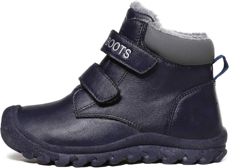 Drecage Bottes de Neige Bottines dhiver pour Enfants gar/çons et Filles Chaud Fourrure Chaussures Imperm/éable Confortables Casual Baskets