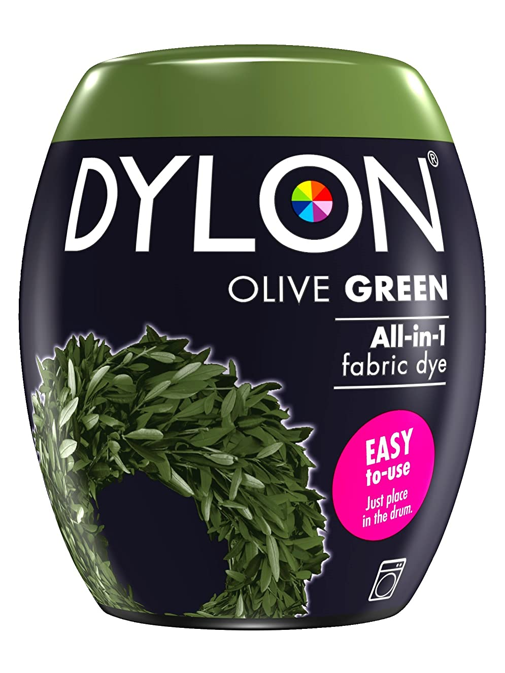 DYLON Machine Dye Pod, easy-to-use fabric colour for laundry, 350g (Olive Green)