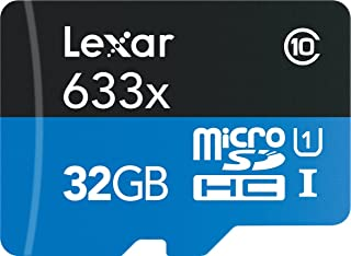 Lexar 95MB/s 633x Micro SD 128g Class 10 card 32g 64GB micro SDXC Memory sd Card adapter UHS-1 for Drone Gopro Sport Camcorder (32GB)