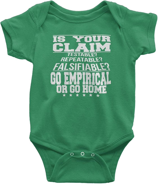HARD EDGE DESIGN Baby's Go Empirical or Go Home Bodysuit
