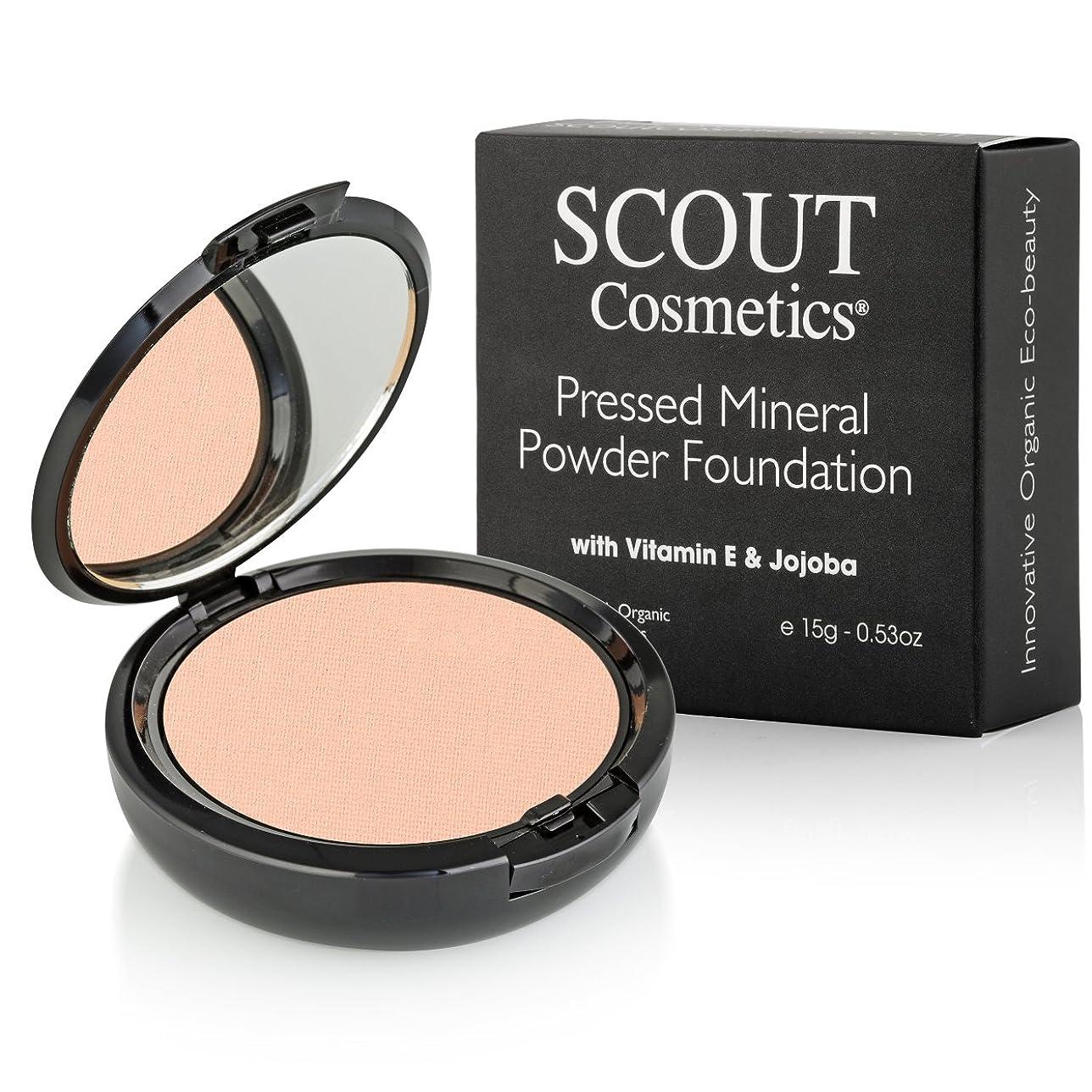 議題報酬尋ねるSCOUT Cosmetics Pressed Mineral Powder Foundation SPF 15 - # Sunset 15g/0.53oz並行輸入品
