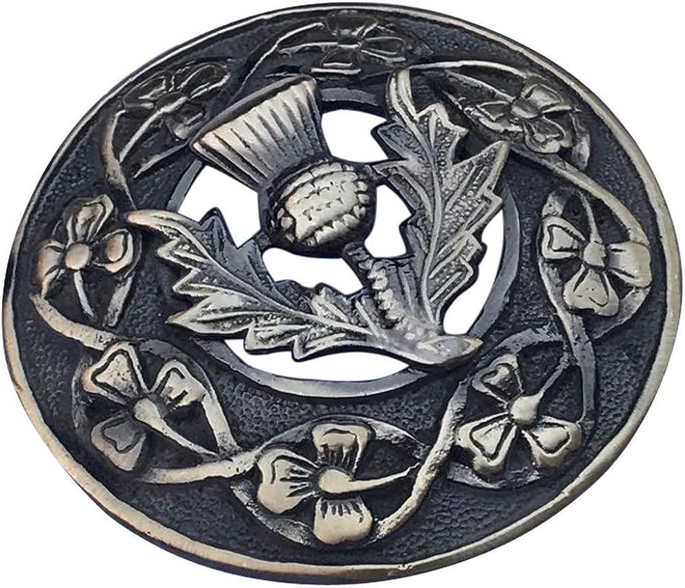 """St Keltisch Walisischer Drache Fly Plaid Brosche 3 /""""// Schottische Kilt Pin Antik"""