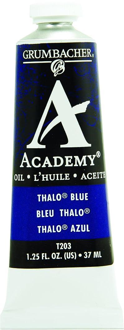Grumbacher Academy Oil Paint, 37 ml/1.25 oz, Thalo Blue (T203)