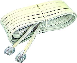 Softalk 48107 Phone Line Cord 15-Feet Ivory Landline Telephone Accessory