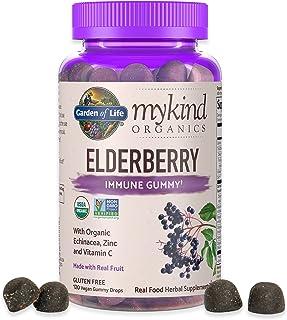 Garden of Life mykind Organics Elderberry Gummies - Immune Support Supplement with Organic Fruit & Herbal Blend of Elderbe...