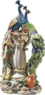 Design Toscano Peacocks Home Decor Statue 19 Inch KY69768